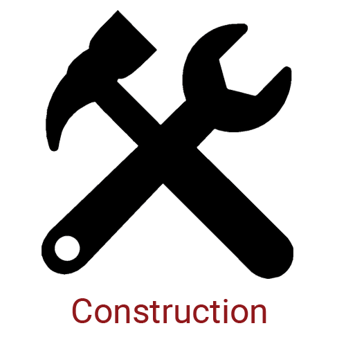 Construction Icon - Crossed Hammer and Wrench