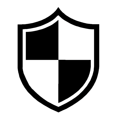 Military Icon - Large Black and White Shield