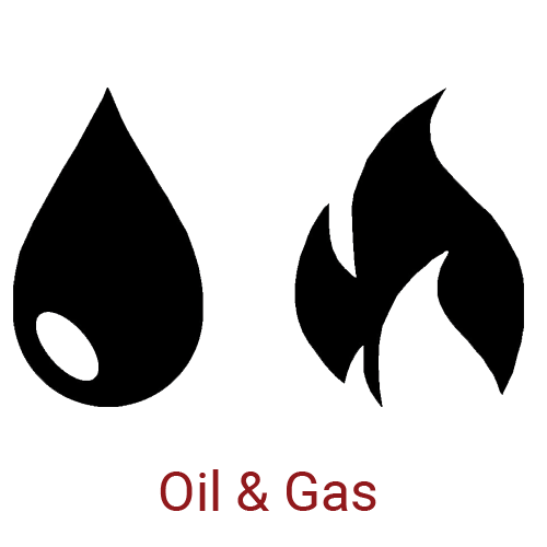 Oil and Gas Icon with Caption