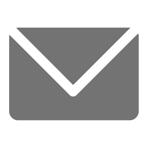 Gray Outline of Mail Icon