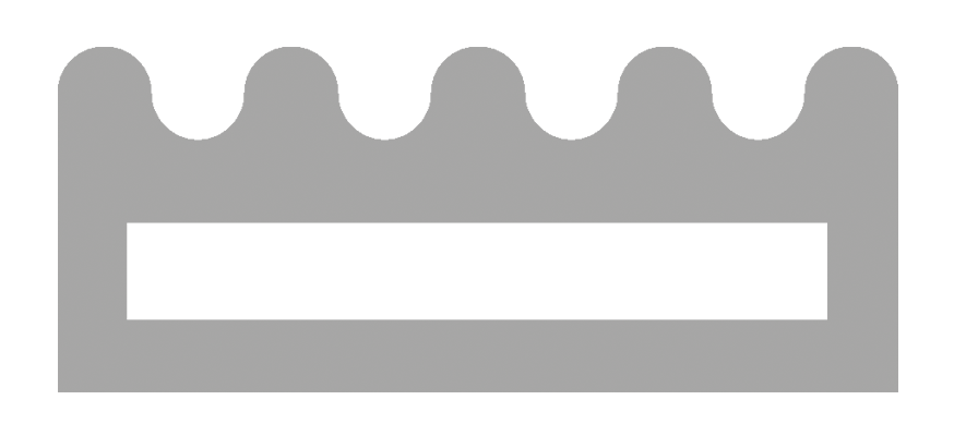 Gray Outline of Extruded Rubber Profile Icon