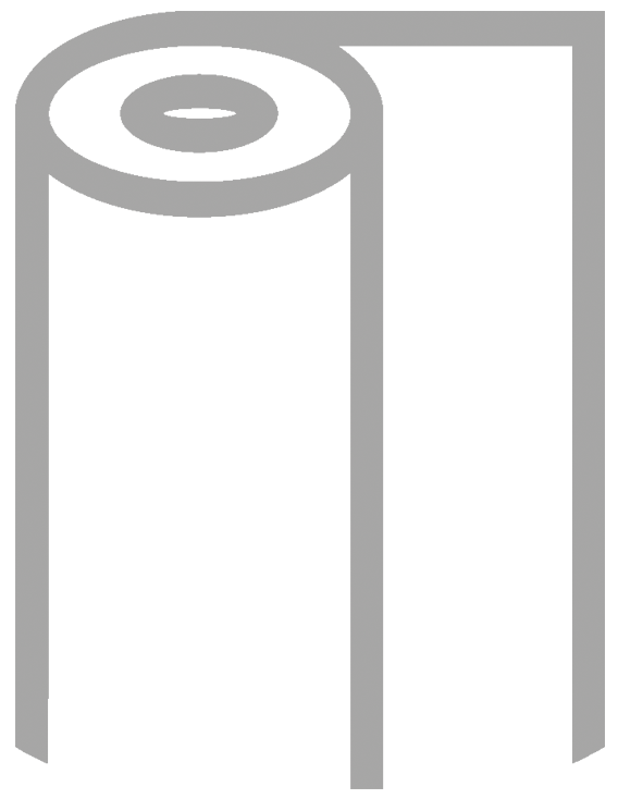Gray Outline of Sheet Rubber Icon