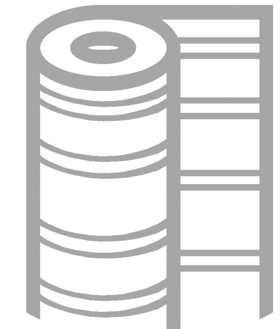 Gray Outline of Rubber Matting Icon