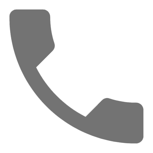 Gray Outline of Phone Icon