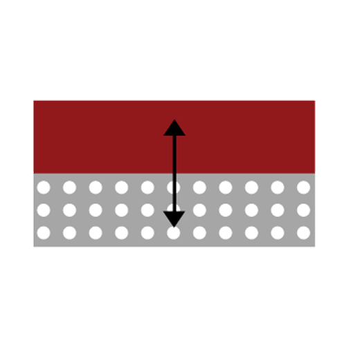 Icon of Red Rubber Bonding to Fabric