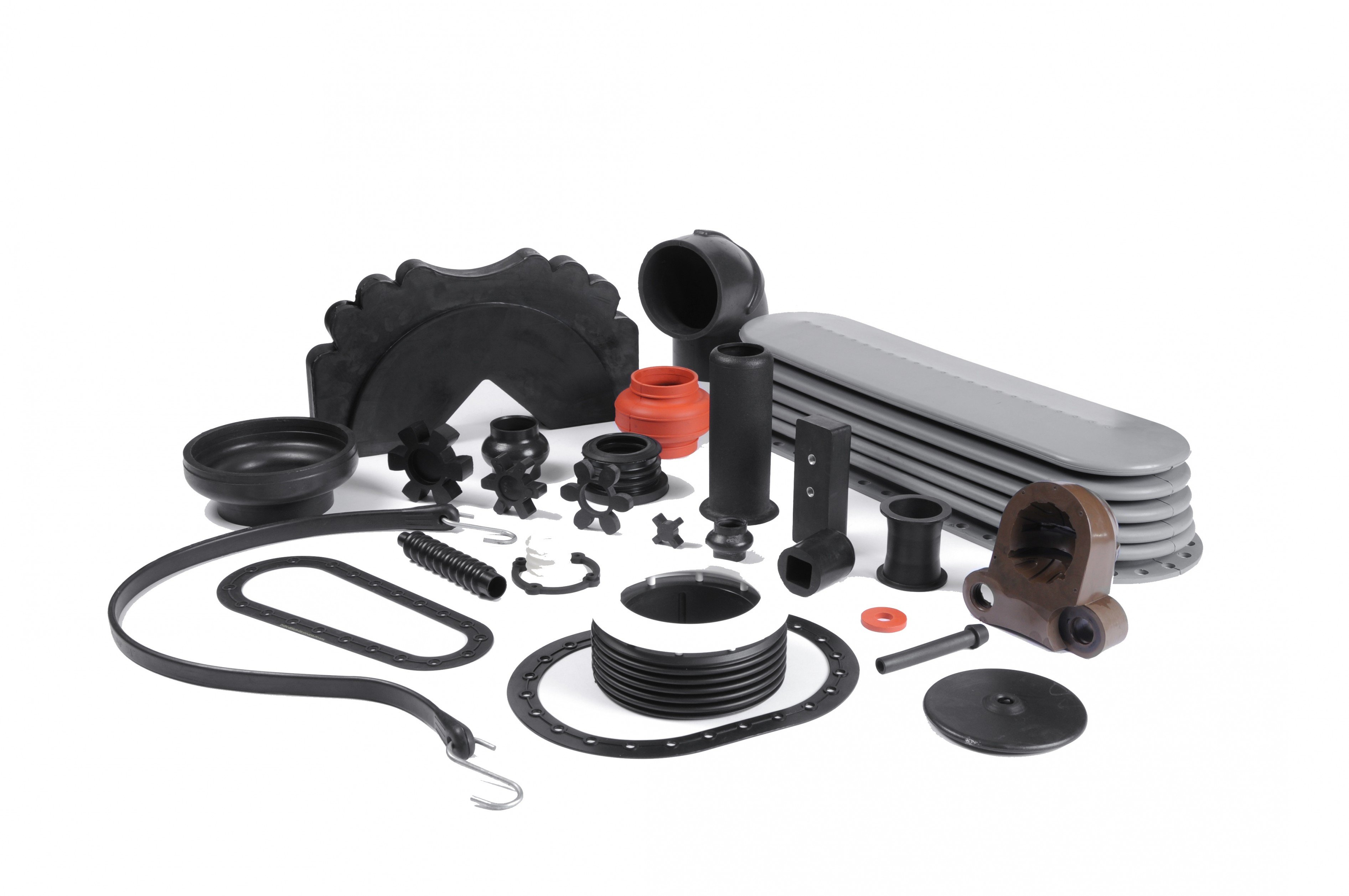 Multiple Molded Rubber Examples From Gaskets to Custom Parts