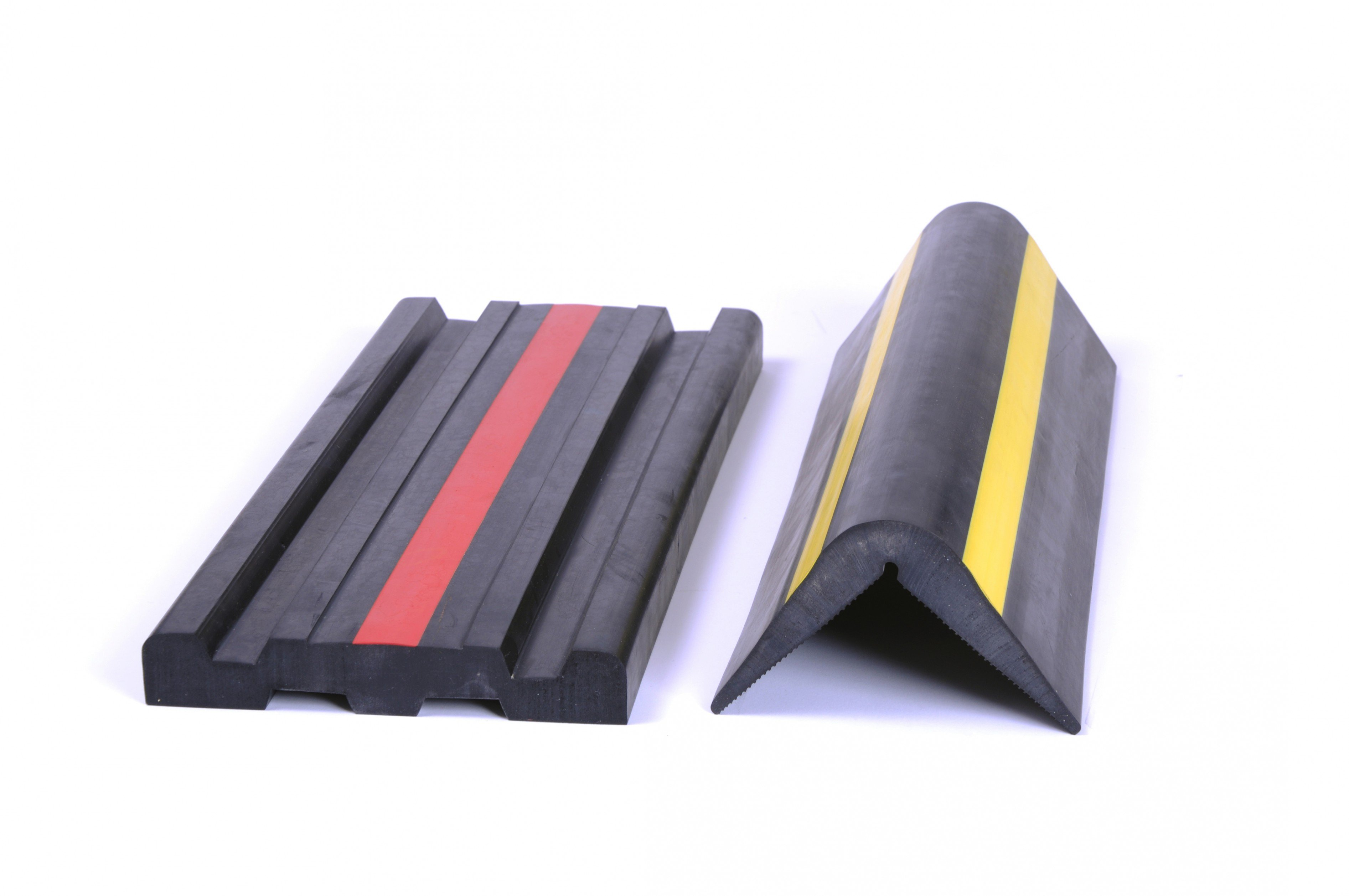 Rubber Dock Bumper Extrusions with Color Line Inlay