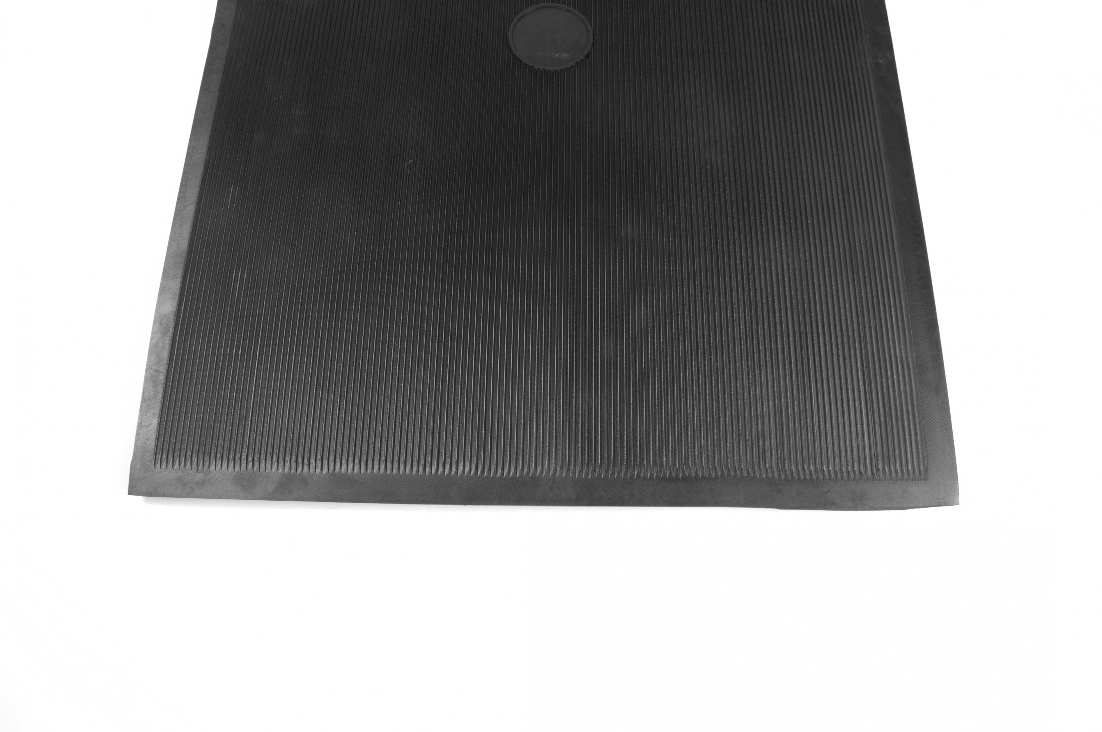Top View of Flat Corrugated Rubber Mat