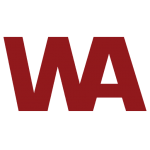 West American as WA in Dark Red