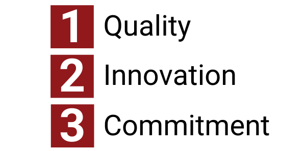 Our Core Values are Quality, Innovation, Commitment