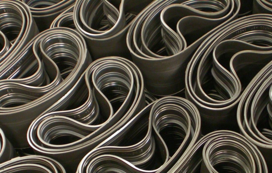 Multiple Rolls of Silver Extrusions