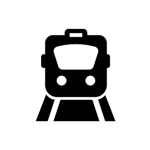 Black Icon of Front Facing Train
