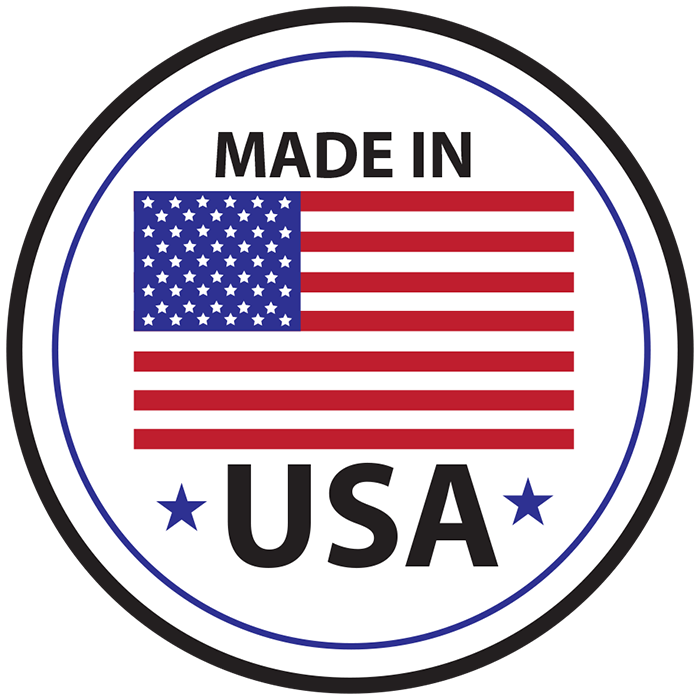 Sticker Shape Detailing That We Are Made In the USA